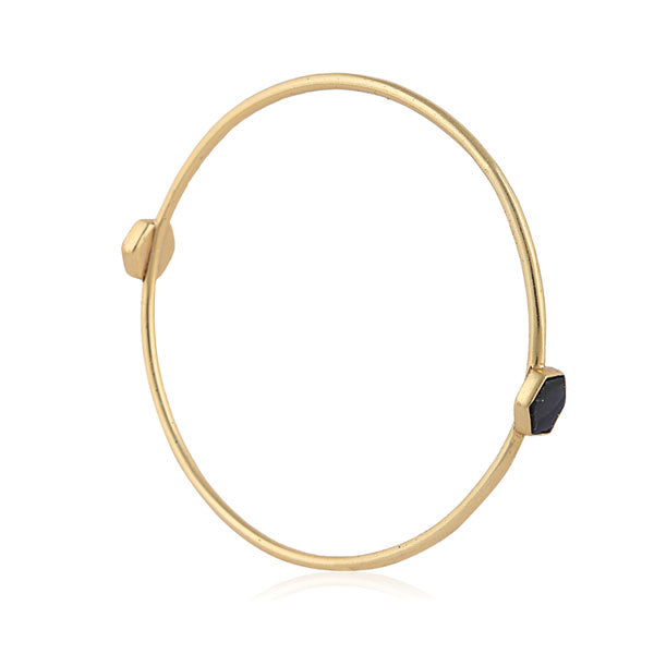 Alkali Bangle- Black & Gold