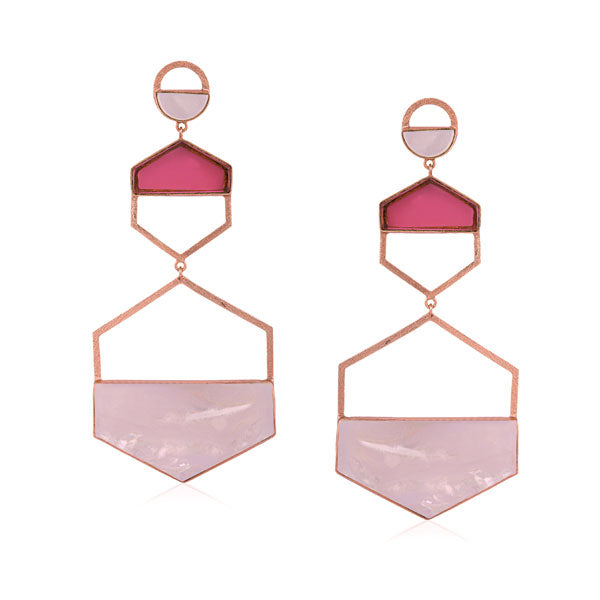 Larva Earrings-Rose Gold