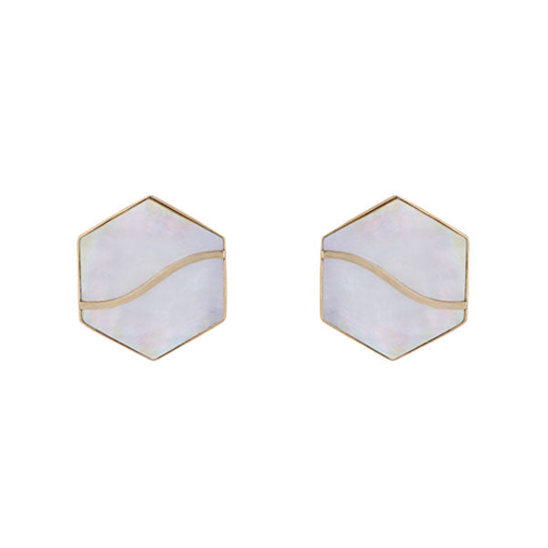 Mellifera Earrings- White