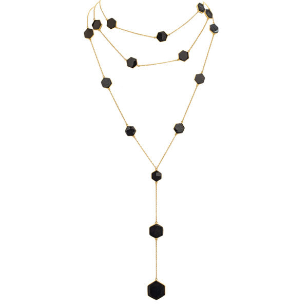 Bee Society Necklace-Black