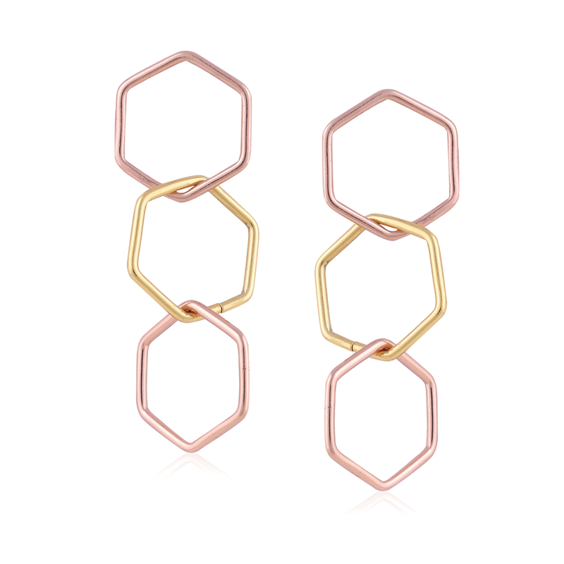 Chainmail Earrings - Gold & Rose Gold