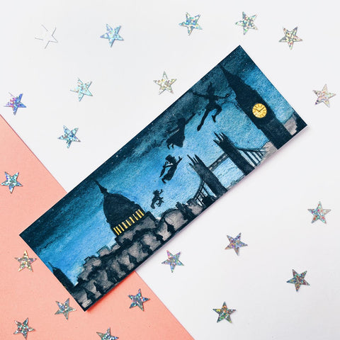 Peter Pan Landscape inspired bookmark.