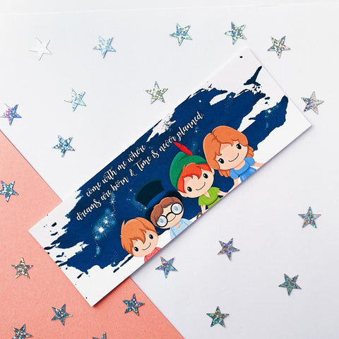 Peter Pan Inspired Quote Bookmark