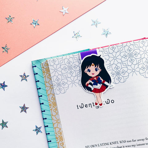 Sailor Mars Inspired Magnetic Bookmark