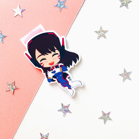 D.Va inspired magnetic bookmark