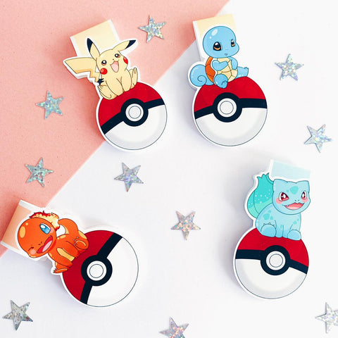 Pokemon inspired Magnetic bookmarks