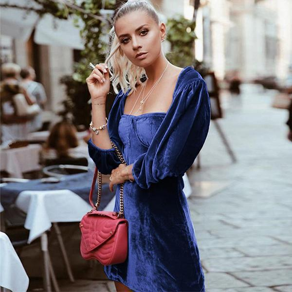 NADINE VELVET BUSTIER DRESS-For Love and Lemons-FASHIONISTA