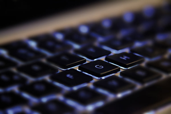 Close-up Keyboard Illuminated