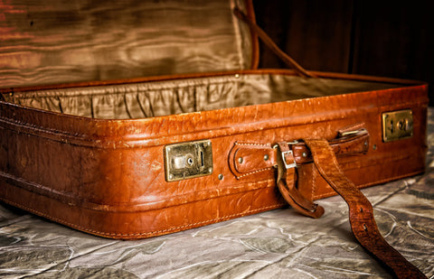 Leather Suitcase, Well Worn