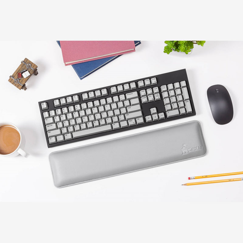 Castle Bailey Genuine Leather Wrist Rest with Keyboard Gray