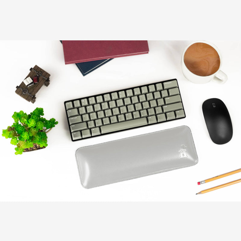 Castle 60% Keyboard Wrist Rest Gray Display