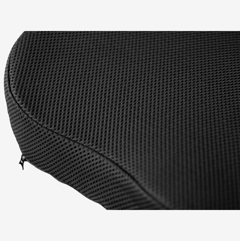 Castle Saddle Contour 3D Mesh washable cover close-up with Zipper