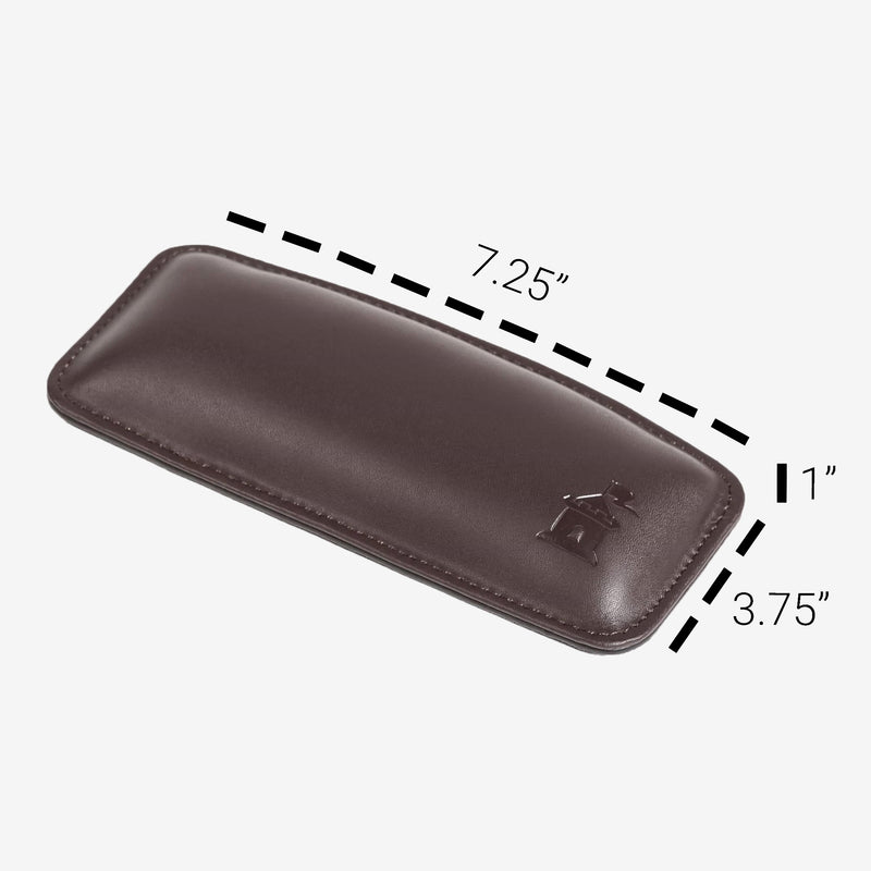 Castle Motte Ergonomical Mouse Wrist Rest Brown With Measurements