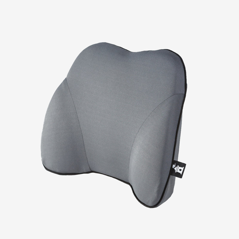 Castle Squire Bulwark Memory Foam Lumbar Support Pillow Angled Gray