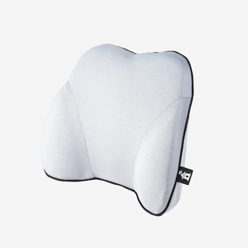 Castle Squire Bulwark Memory Foam Lumbar Support Pillow Angled White
