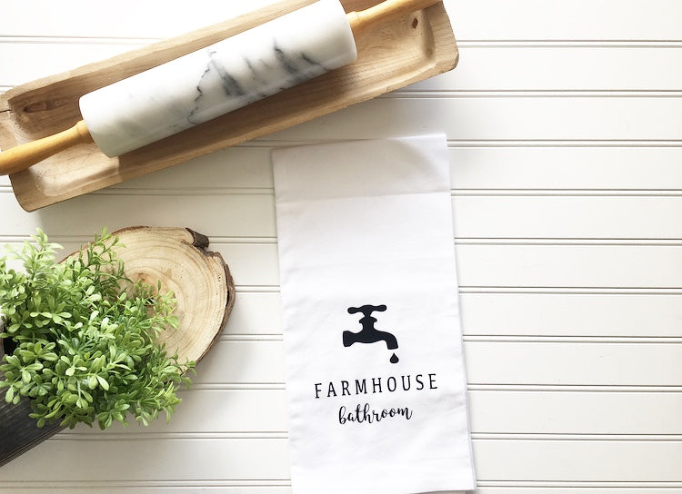 Farmhouse Bathroom Tea Towel