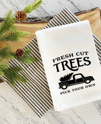 Fresh Cut Trees Tea Towel