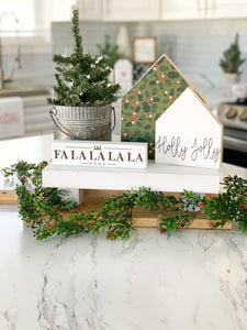 Holly Jolly- Wooden House Set