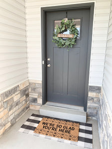No Soliciting Wreath Sign