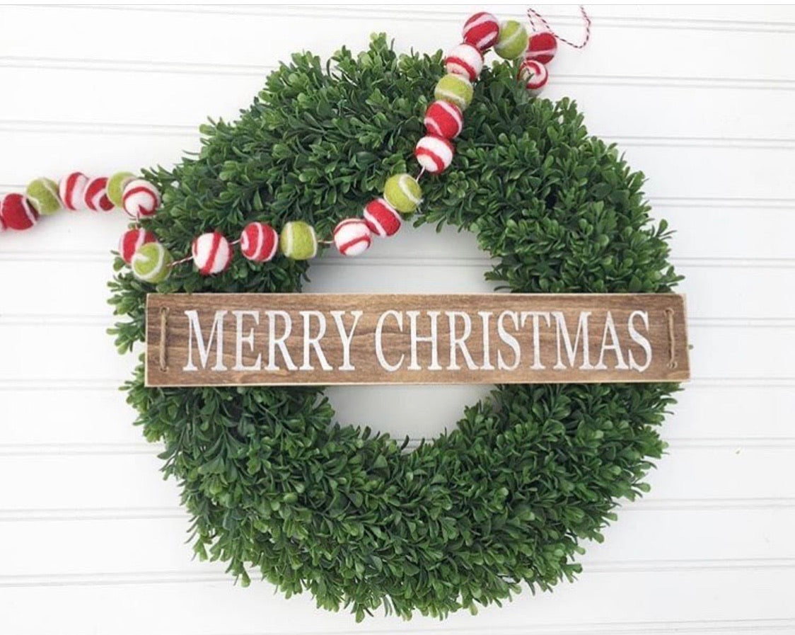 Merry Christmas wreath sign