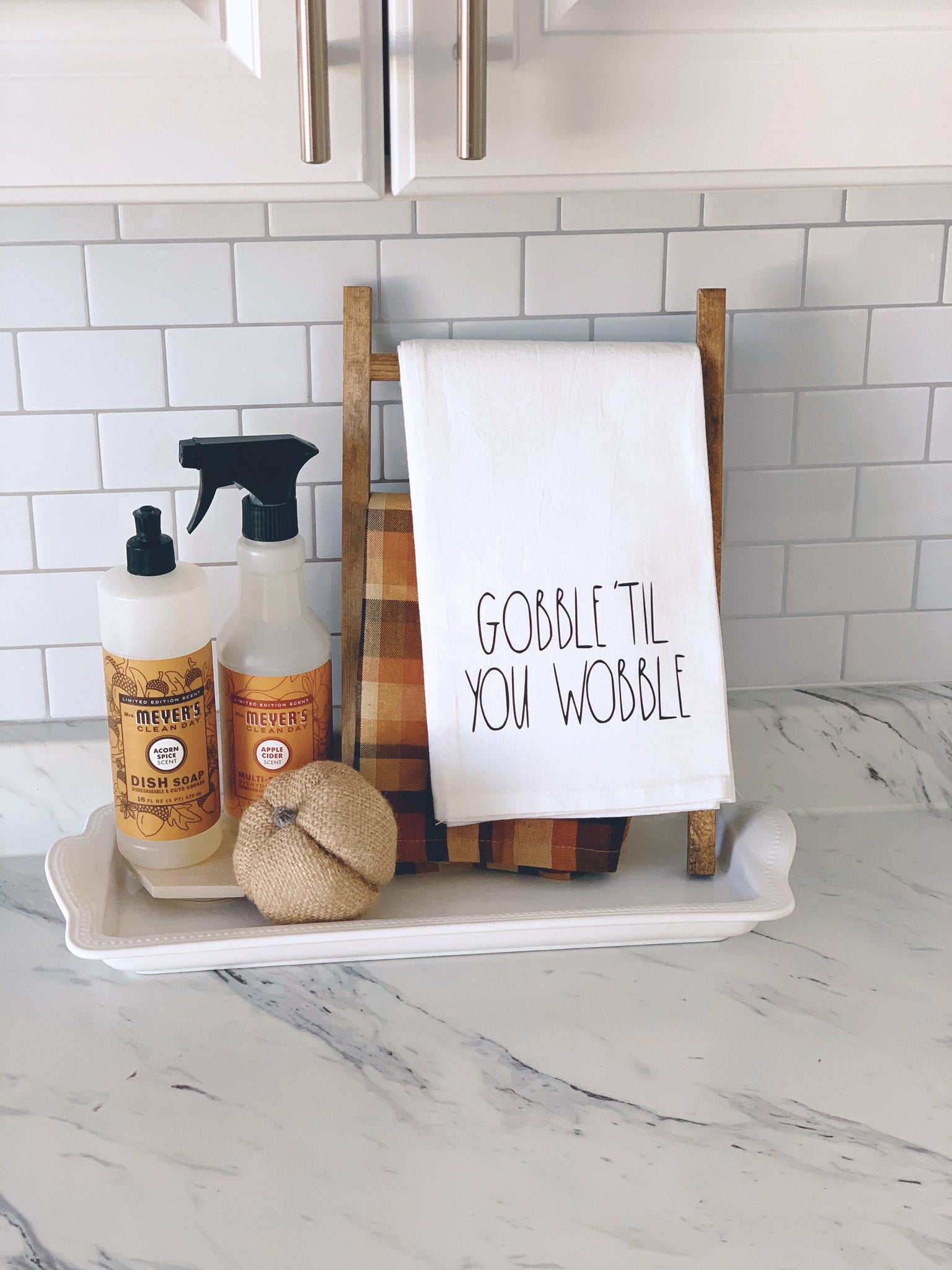 Gobble 'Til You Wobble Tea Towel