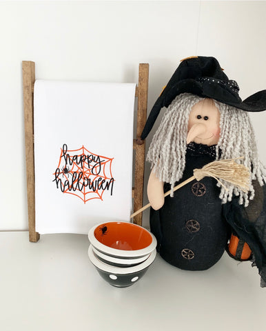 Happy Halloween Tea Towel