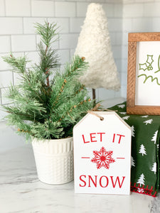 Let It Snow - Wooden Tag