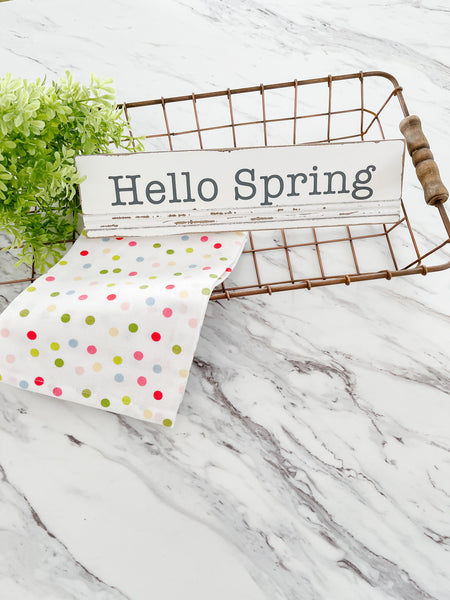 Rustic Hello Spring Sign