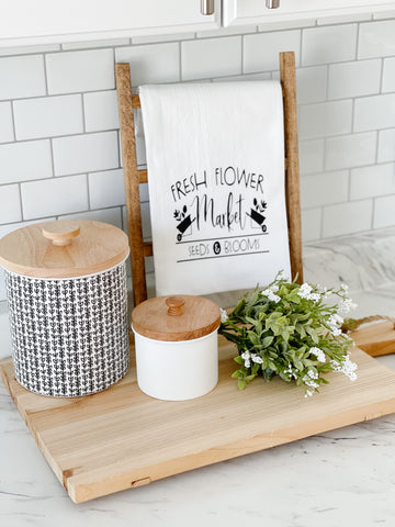 Fresh Flower Market Tea Towel