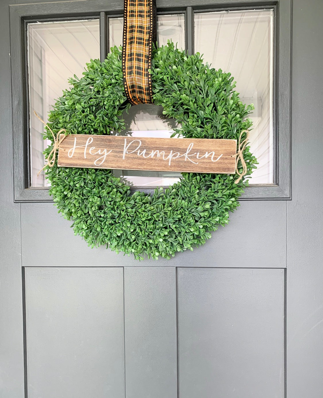 Hey Pumpkin Wreath Sign