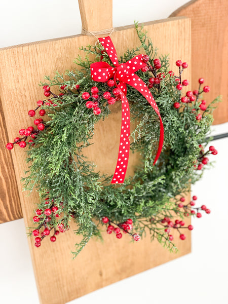 Cedar Wreath With Red Berries