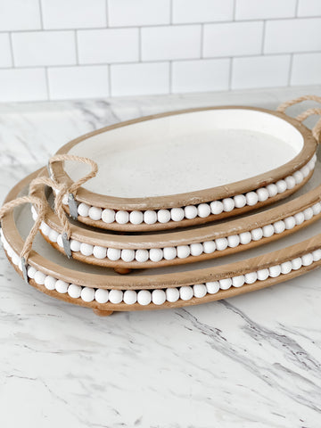 Rustic Beaded Tray