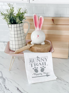 Bunny Trail Tea Towel