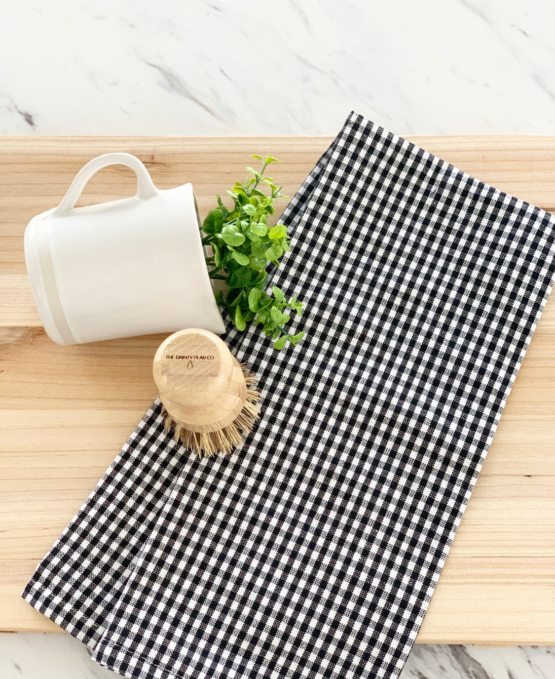 Black Gingham Tea Towel