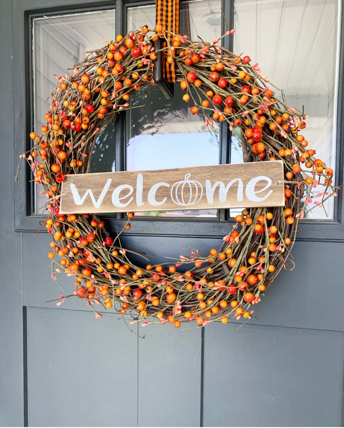 Fall Welcome Wreath Sign