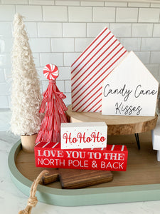Candy Cane Kisses- Wooden House Set