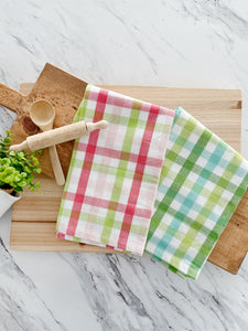 Spring Plaid Tea Towel