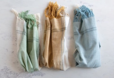 Fringe Tea Towels- Set of Three