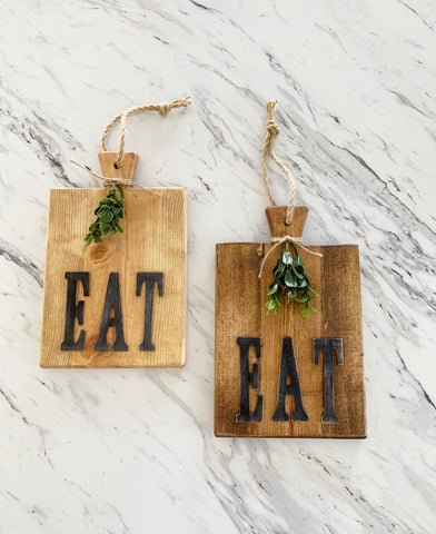 """Eat"" Farmhouse Style Cutting Bord"