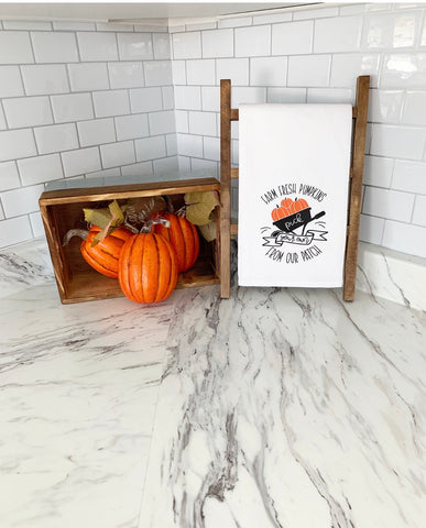 Farm Fresh Pumpkins Tea Towel