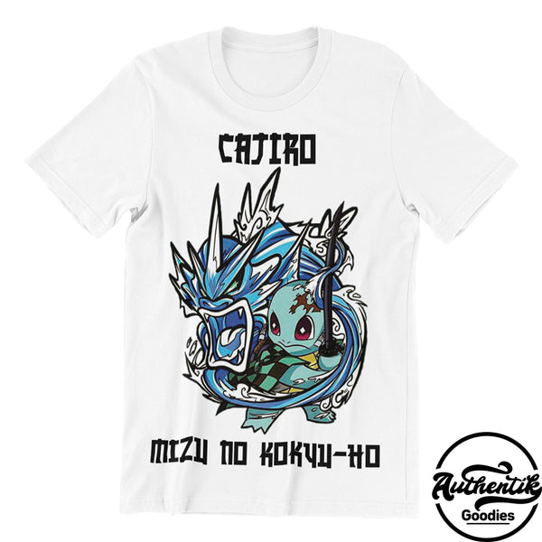 T-shirt Blanc Cajiro (Pokemon x Demon Slayer)