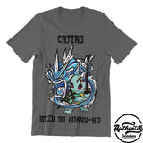 T-shirt Gris Foncé Cajiro (Pokemon x Demon Slayer)