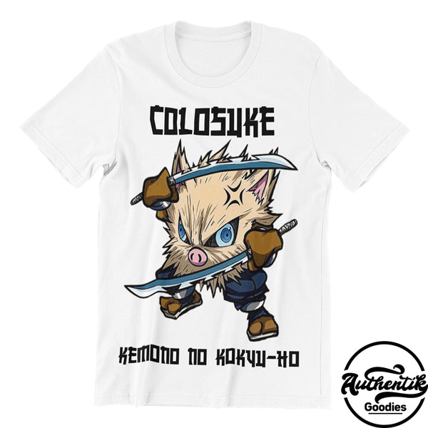 T-shirt Blanc Colosuke (Pokemon x Demon Slayer)