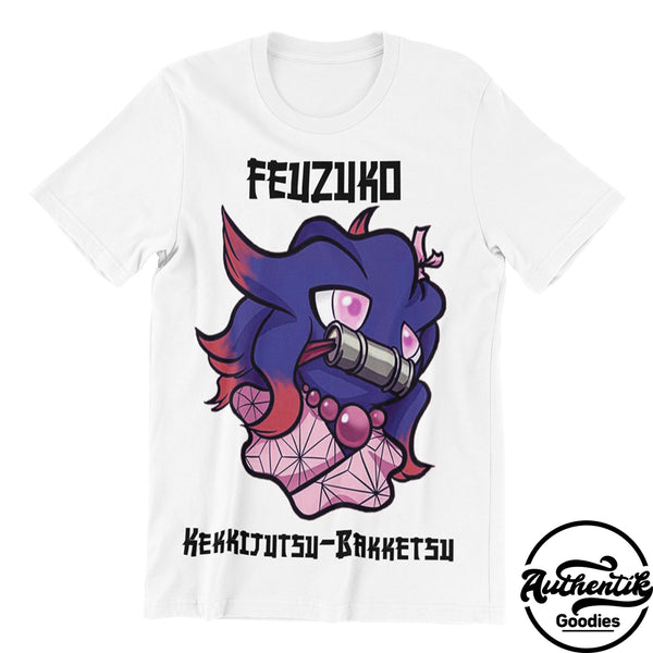 T-shirt Blanc Feuzuko (Pokemon x Demon Slayer)