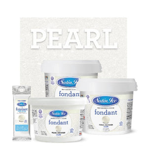 Satin Ice Pearl Shimmer Fondant — 4oz, 2lb, 5lb - Bake Supply Plus