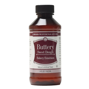 LorAnn Buttery Sweet Dough Emulsion 4oz LorAnn Oils Emulsion - Bake Supply Plus
