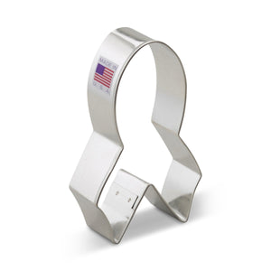 Ribbon Awareness Cookie Cutter Ann Clark Cookie Cutter - Bake Supply Plus