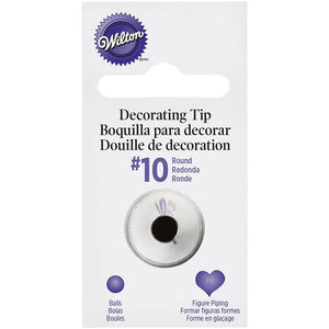 Wilton Standard #10 Round Decorating Tip Wilton Piping Tip - Bake Supply Plus