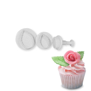 Rose Leaf Plunger Cutter - Small NY Cake Fondant Cutter - Bake Supply Plus