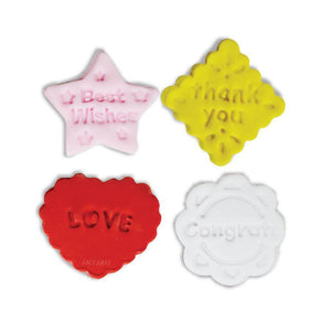 Messages Fondant & Pie Cutter Set NY Cake Fondant Cutter - Bake Supply Plus